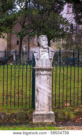 Half-length Sculpture Of Cesare Fracassini