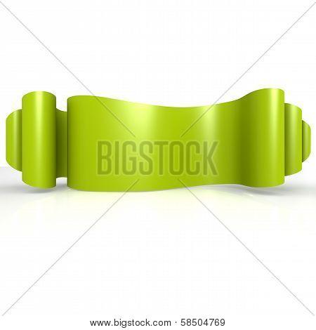 Green Wave Ribbon