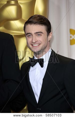 Daniel Radcliffe at the 85th Annual Academy Awards Press Room, Dolby Theater, Hollywood, CA 02-24-13