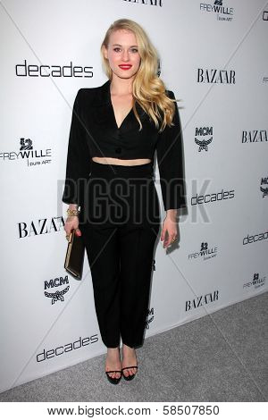 Leven Rambin at Harper's Bazaar Celebrates The Launch Of The Dukes of Melrose, Sunset Tower, West Hollywood, CA 02-28-13