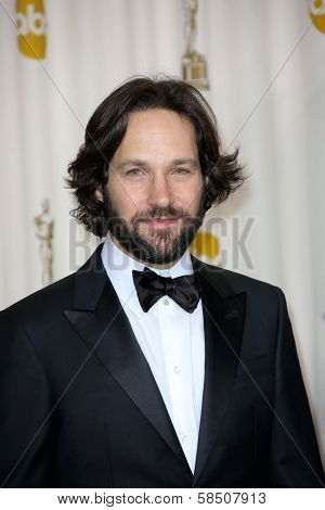 Paul Rudd at the 85th Annual Academy Awards Press Room, Dolby Theater, Hollywood, CA 02-24-13