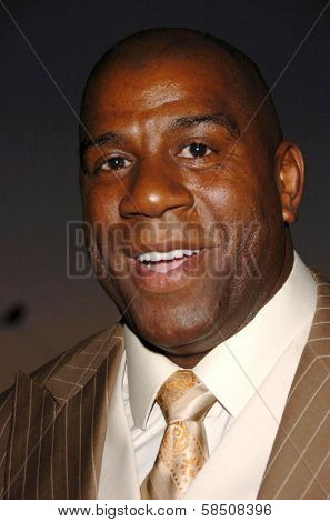 HOLLYWOOD - July 07: Magic Johnson at A Midsummer Night's Dream: A Magic Night of Poker, Players and Stars in The Avalon on July 07, 2006 in Hollywood, CA.