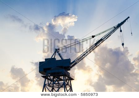 Old Construction Crane