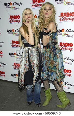 ANAHEIM - JULY 22: Aly Michalka and AJ Michalka at the Radio Disney Totally 10 Birthday Concert at Anaheim Pond on July 22, 2006 in Anaheim, CA.