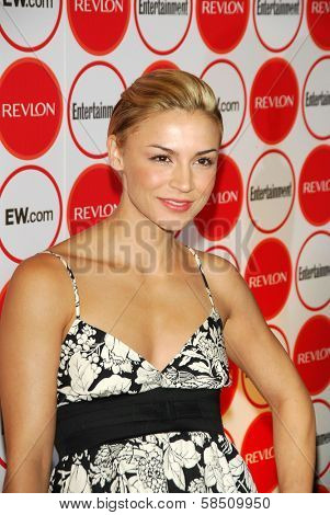 LOS ANGELES - AUGUST 26: Samaire Armstrong at the Entertainment Weekly Magazine's 4th Annual Pre-Emmy Party in Republic on August 26, 2006 in Los Angeles, CA.