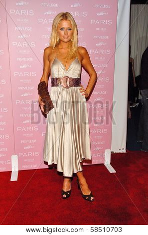 HOLLYWOOD - AUGUST 18: Paris Hilton at the party celebrating the launch of Paris Hilton's Debut CD