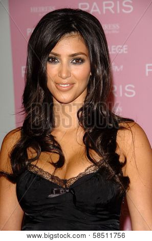 HOLLYWOOD - AUGUST 18: Kimberly Kardashian at the party celebrating the launch of Paris Hilton's Debut CD