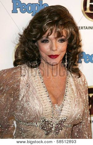 WEST HOLLYWOOD - AUGUST 27: Joan Collins at the 10th Annual Entertainment Tonight Emmy Party Sponsored by People in Mondrian August 27, 2006 in West Hollywood, CA.