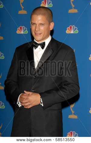 LOS ANGELES - AUGUST 27: Wentworth Miller in the Press Room at the 58th Annual Primetime Emmy Awards in The Shrine Auditorium August 27, 2006 in Los Angeles, CA.