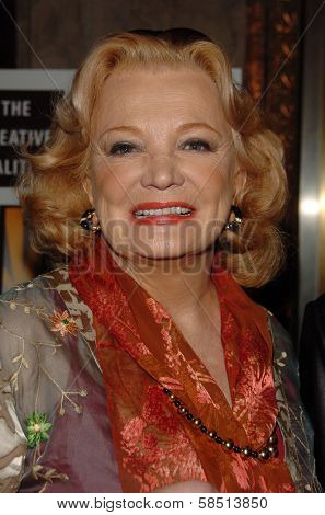 HOLLYWOOD - AUGUST 15: Gena Rowlands at the Los Angeles Premiere of