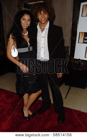 HOLLYWOOD - AUGUST 15: Cinthya Mendez and Corbin Bleu at the Los Angeles Premiere of