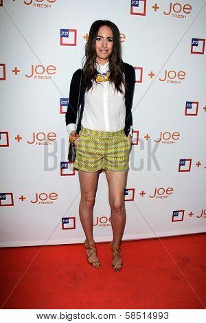 Louise Roe at the introduction of Joe Fresh at JCP, Joe Fresh at JCP Pop Up Store, Los Angeles, CA 03-07-13