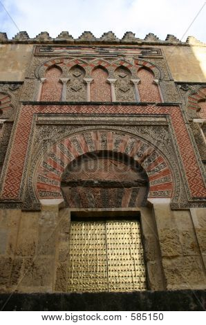 Entrance To The Mosque Of Cordova ,  Spain