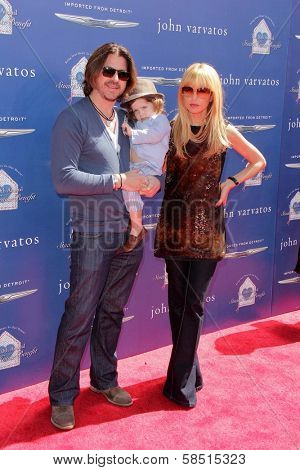 Rachel Zoe with Rodger Berman and Skylar Berman at the 10th Annual John Varvatos Stuart House Benefit, John Varvatos Boutique, Beverly Hills, CA 03-10-13