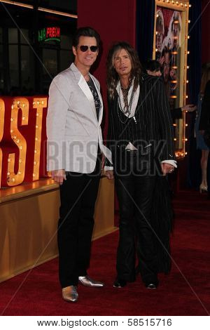 Jim Carrey and Steven Tyler at the World Premiere of