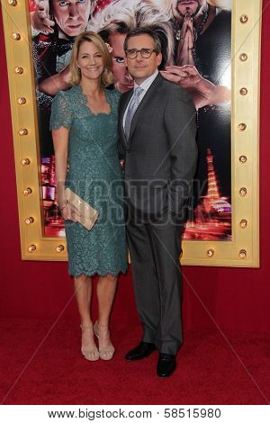 Nancy Walls and Steve Carell at the World Premiere of