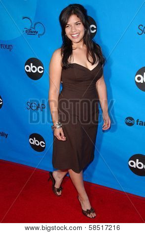 PASADENA, CA - JULY 19: America Ferrera at the Disney ABC Television Group All Star Party on July 19, 2006 at Kidspace Children's Museum in Pasadena, CA.