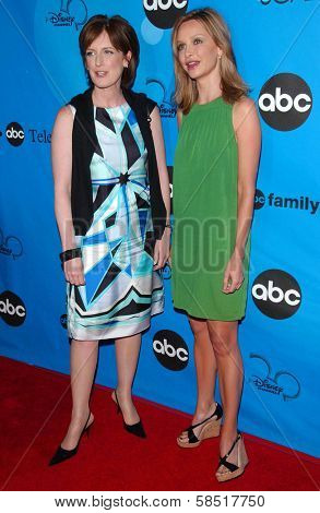 PASADENA, CA - JULY 19: Anne Sweeney and Calista Flockhart at the Disney ABC Television Group All Star Party on July 19, 2006 at Kidspace Children's Museum in Pasadena, CA.