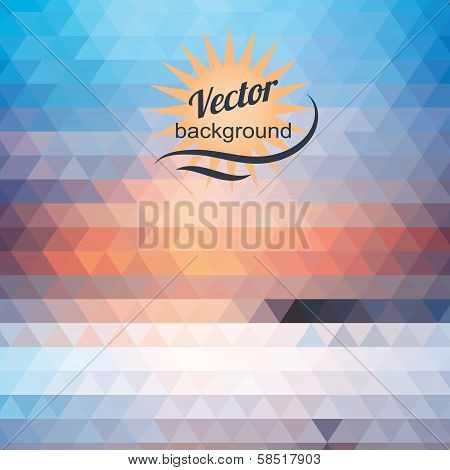 Abstract geometric background of the triangles
