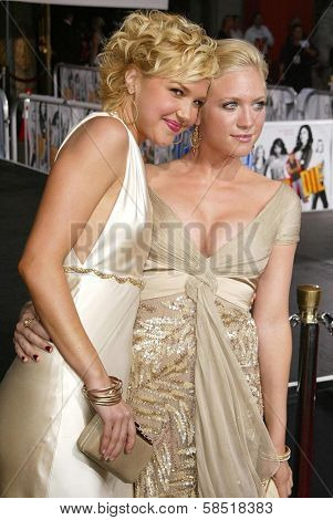 HOLLYWOOD - JULY 25: Arielle Kebbel and Brittany Snow at the premiere of John Tucker Must Die on July 25, 2006 at Grauman's Chinese Theatre in Hollywood, CA.