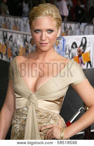 HOLLYWOOD - JULY 25: Brittany Snow at the premiere of John Tucker Must Die on July 25, 2006 at Grauman's Chinese Theatre in Hollywood, CA.