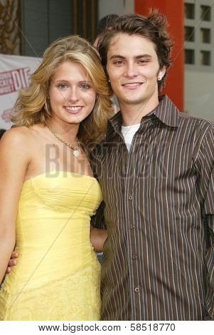 HOLLYWOOD - JULY 25: Cameron Goodman and Shiloh Fernandez at the premiere of John Tucker Must Die on July 25, 2006 at Grauman's Chinese Theatre in Hollywood, CA.
