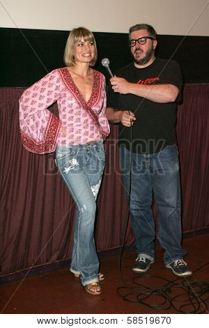 HOLYWOOD - AUGUST 25: Rena Riffel and Alonso Duralde at a Special Screening of Showgirls on August 25, 2006 at Laemmle's Sunset 5 in West Hollywood, CA.