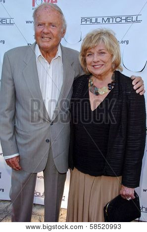 MALIBU, CA - AUGUST 05: Dick Van Patten and wife Pat at