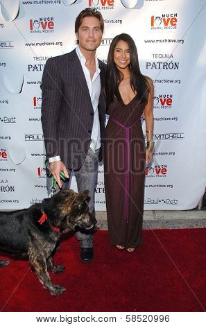 MALIBU, CA - AUGUST 05: Eric Winter and Roselyn Sanchez at