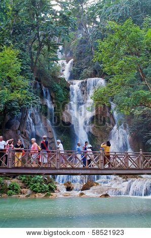 The Kuang Si Falls. Luang Prabang. Laos