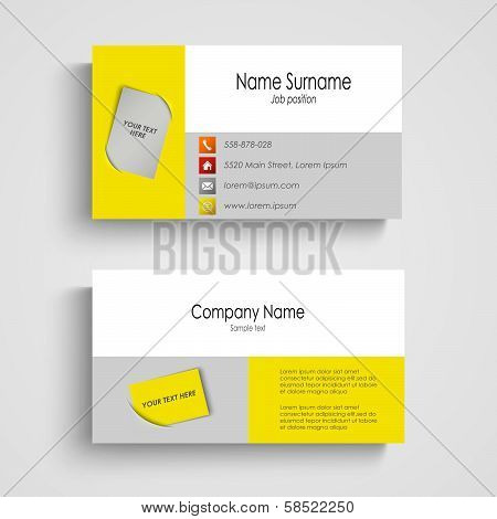 Modern colored business card template