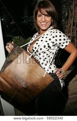 WEST HOLLYWOOD - AUGUST 24: Bridgetta Tomarchio at the Antik Denim Pre-Emmy Gift Experience on August 4, 2006 at Antik Denim in West Hollywood, CA.