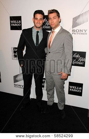 Michael Turchin, Lance Bass at the L.A. Gay And Lesbian Center Hosts 'An Evening' honoring Amy Pascal and Ralph Ricci, Beverly Wilshire, Beverly Hills, CA 03-21-13