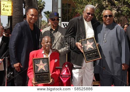 Ray Parker Jr., Paul Riser, Eddie Willis, Jack Ashford, Stevie Wonder at The Funk Brothers Star on the Hollywood Walk of Fame, Hollywood, CA 03-21-13