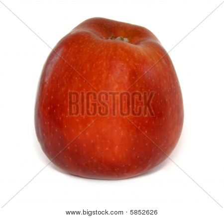 Red rippen apple isolated on white background