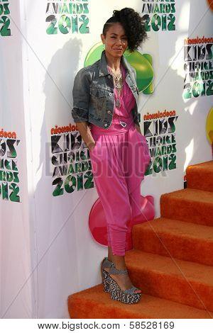 Jada Pinkett Smith at the 2012 Nickelodeon Kids' Choice Awards, Galen Center,  Los Angeles, CA 03-31-12
