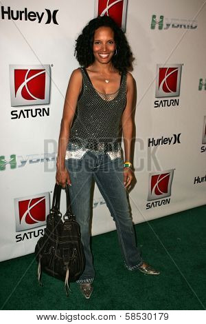 HOLLYWOOD - AUGUST 02: Sherri wearing clothing by Antik Denim at Saturn's X-Games 12 Party at 6820 Hollywood Blvd on August 02, 2006 in Hollywood, CA.