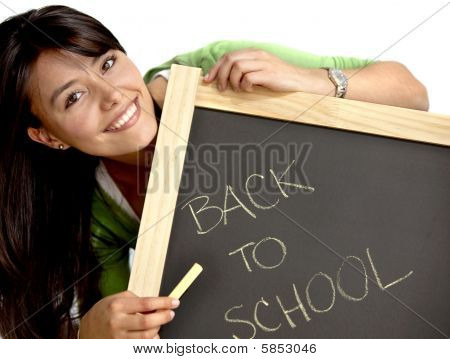Woman Writing Back To School