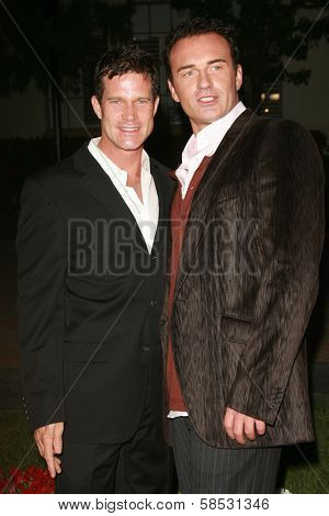 HOLLYWOOD - AUGUST 25: Dylan Walsh and Julian McMahon at the