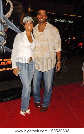 HOLLYWOOD - AUGUST 17: Victoria Rowell and friend at the Los Angeles Premiere of