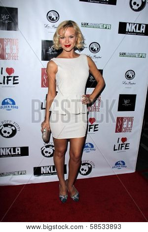Anya Monzikova at the No Kill L.A. Charity Event, Fred Segal, West Hollywood, CA 04-02-13