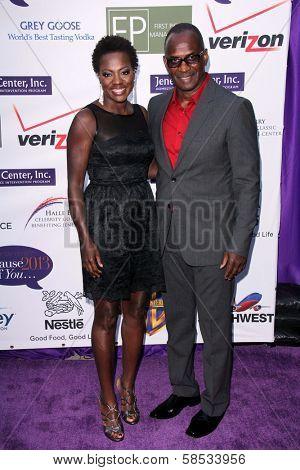 Viola Davis, Julius Tennon at the 2013 Silver Rose Gala, Vibiana, Los Angeles, CA 04-06-13