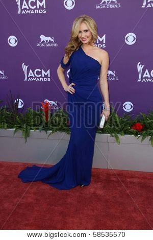 Ashley Jones at the 48th Annual Academy Of Country Music Awards Arrivals, MGM Grand Garden Arena, Las Vegas, NV 04-07-13