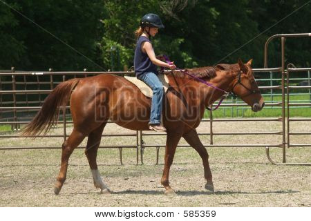 Girl Riding