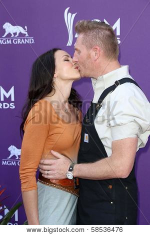Joey & Rory kissing at the 48th Annual Academy Of Country Music Awards Arrivals, MGM Grand Garden Arena, Las Vegas, NV 04-07-13
