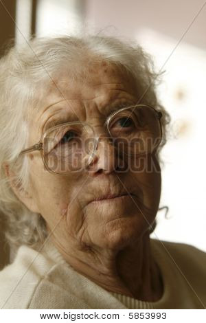 Thoughtful Old Lady