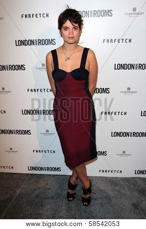 Pixie Geldof at the British Fashion Council's