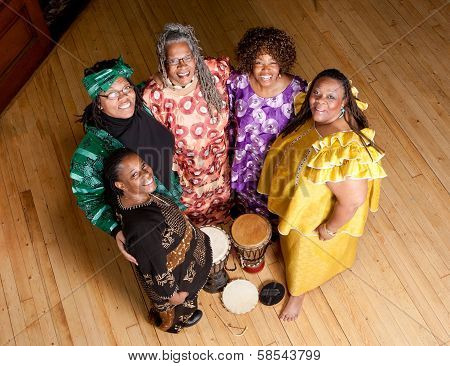 Group Of African Woman Performers