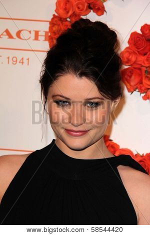 Emilie de Ravin at Coach's 3rd Annual Evening of Cocktails and Shopping benefiting  the Children's Defense Fund, Bad Robot, Santa Monica, CA 04-10-13