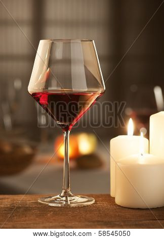 Red Wine With Candles